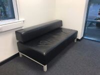 2 - 3 Seater Leather Office Sofa