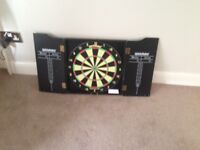 Winmau dartboard and cabinet