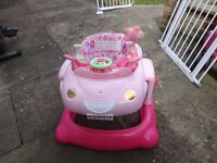 baby walker come boucer good condition