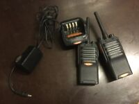 X 2 Hytera pd405 digital mobile radio with charger very good condition no longer needed