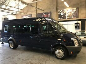 2008 FORD TRANSIT 2.4 TDCI - 17 SEATER MINIBUS LWB JUMBO - IMMACULATE CONDITION