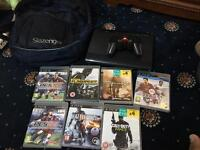 Sony ps3 slim 500gb hard drive + 7 games