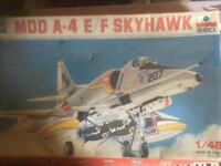 MDD A-4 E/F SKYHAWK model kit 1/48