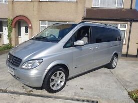 Mercedes Viano 2.2 CDI Ambiente Diesel 7 Seat MPV Leather Auto Tint 1 previous Owner FSH Table RARE