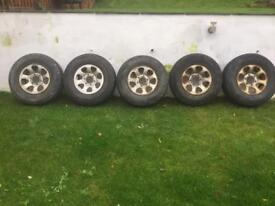 5 Vauxhall frontera wheels with tyres