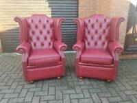 Chesterfield genuine leather chairs EXCELLENT CONDITION! BARGAIN!