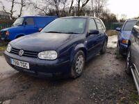 Volkswagen golf 1.6 5 door 115,000 miles runs and drives well