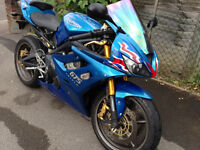 Triumph Daytona 675 Triple Motorbike 2009 Neon Blue New MOT Tyres & Battery 7150 Miles