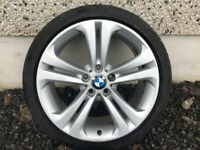 19INCH 5/120 GENUINE BMW M-SPORT ALLOY WHEELS WITH WIDER REARS COMPLETE WITH TYRES