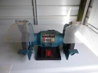 Clarke bench grinder. 6'' wheels, coarse and fine.
