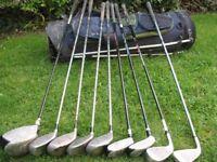 golf club selection and bag skymax ice vortex dunlop mx2 seal drivers irons and bag