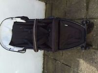 BRITAX B-Dual Black Thunder Travel System double pushchair & Pram Attachment (like Phil & Teds)