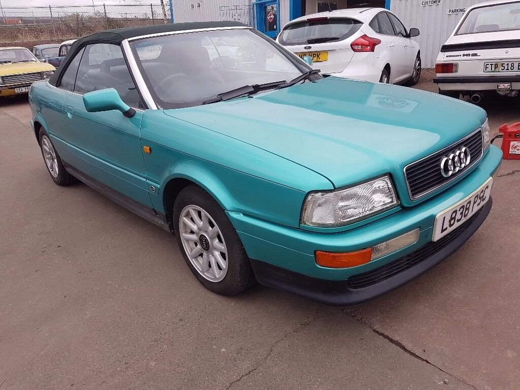1994 Audi 80 Cabriolet 2.6 - Green with Green Roof   in ...
