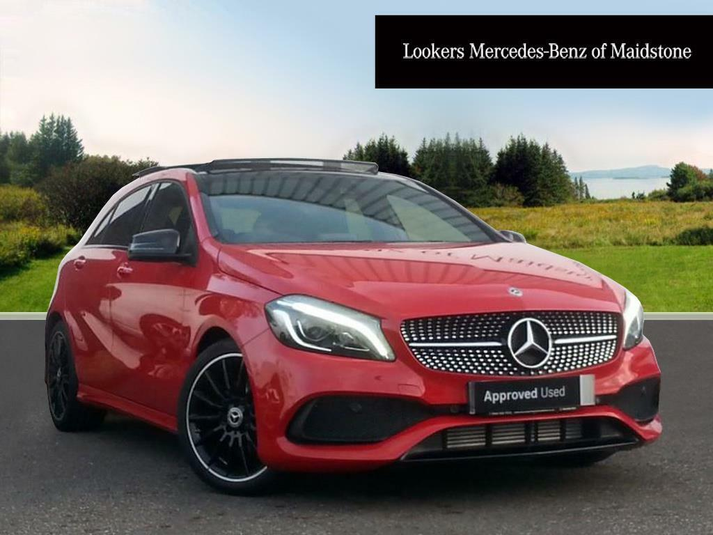 mercedes benz a class a 200 d amg line premium plus red. Black Bedroom Furniture Sets. Home Design Ideas