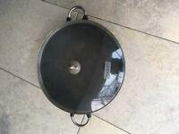 Bodum cast iron wok, 14.5 inch wok