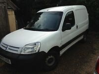 Citroen Berlingo Van Diesel 600D LX White off road sorn since May, no use for it anymore. Mot sept.