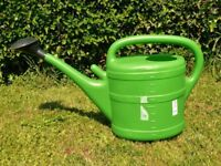 Green 10 Litre Thermo Geli Plastic Garden Watering Can and Rose / Spray Nozzle