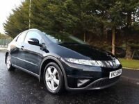 MAY 2008 HONDA CIVIC SE 1.8 i-VTEC PETROL 6SPEED 5DOOR BLACK METALLIC LOOKS AND DRIVES FIRST CLASS !