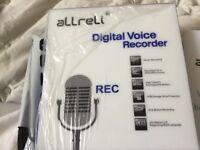 Allreli digital voice recorder ( new and still in packaging ) 8 gb