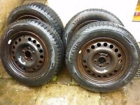 4 x Vredestein Quatrac 3 195/65/15 91V All-Weather Tyres & Vauxhall Steel Rims