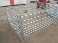 Set of 10 sheep pig goat livestock hurdles gates tractor