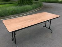 6ft Banquet wooden table