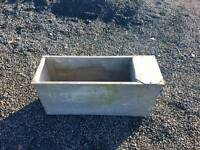 Fully galvanised water trough with service box sheep calf horse tractor