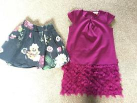 Ted Baker Dress and Skirt Bundle age 5-6