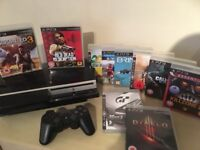 SONY PS3 Console + Wireless Controller + 10 Massive Playstation 3 Games inc RED DEAD & UNCHARTED 3