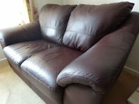 Italian Brown Leather Sofa Suite (2 seater +3 seater) would sell separately