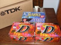 TDK D90 D60 and SA90 Cassette Tapes Sealed