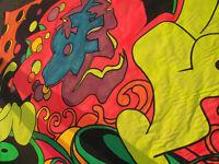 Large U.V. Backdrops on heavy canvas..
