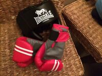 Lonsdale Boxing Gloves and Headgear