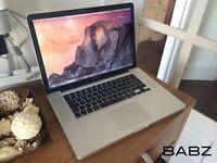 Apple Macbook Pro - Intel Quad Core i7 2.2Ghz - 512GB SSD/8GB Ram - Adobe CS6/Final Cut/Logic Pro X