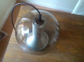 old glass light shade