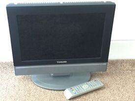 15 inch TV with DVD Bulit In Combi Black with remote control all working