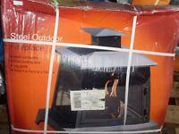 """LA HACIENDA"" BOXED PACKED BRAND NEW STEEL OUTDOOR FIREPLACE ITALIAN MAKE"