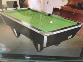 Solid Heavy Slate Bed Pool Table