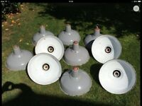 Wanted old enamel factory industrial light lamp metal