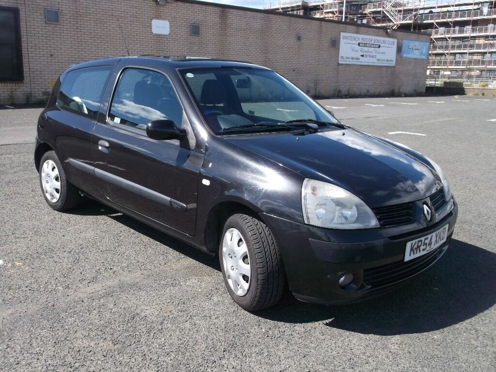 trade in to clear renault clio extreme 3 2004 16v 1 2 black 3 door 2 owners mot april 17 some. Black Bedroom Furniture Sets. Home Design Ideas