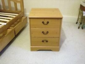 bedside locker pine £25