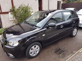 Kia Rio 1.4 Domino ONLY 7968 Documented MILES!! 5 Door AUTOMATIC. Black. Full Service History .