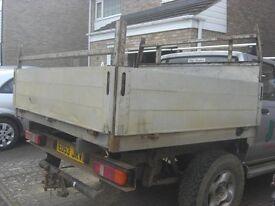 Pickup Back / Rear. Aluminium Back, Drop sides flat bed, flatbed.