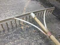 Castex Landscape Rake 26 inch FREE DELIVERY Gardener Soil Allotment 18 Tooth Compost Shredder Mower