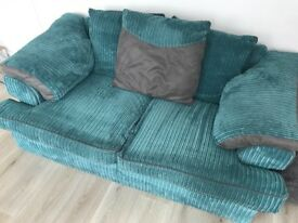 Teal Coloured 2 Seater Sofa