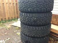 4 Used LT285/75R17 Muteki tires