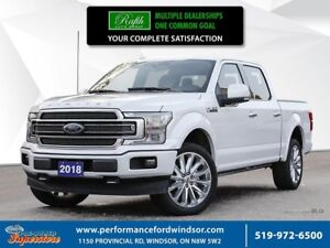 2018 Ford F-150 LIMITED ***22'S, MOONROOF, NAV***
