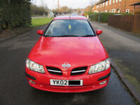 NIssan Almera SE 1.5L Flame RED 5 doors w/Service History.