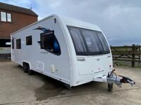 2017 Lunar Cosmos Four Berth Mint Condition Fixed Island Bed & Motor Mover
