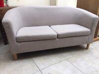 Argos cream tub sofa